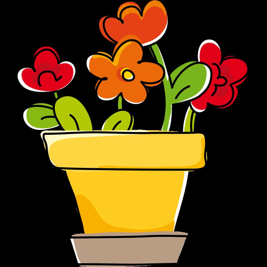 Adesivi murali vaso di fiori leostickers for Vaso di fiori disegno